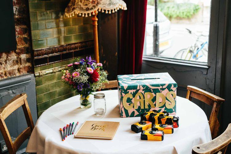 Card Box & Guest Book Wedding Display