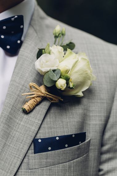 White Rose Buttonhole | Miss Gen Photography