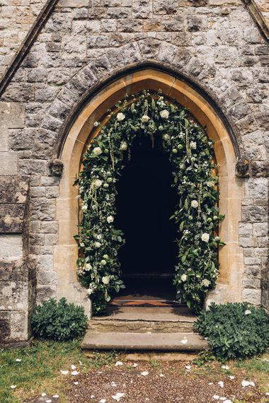 Floral Arch | Church Wedding Flowers | Miss Gen Photography