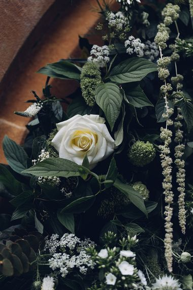 White Rose & Greenery Wedding Flowers | Miss Gen Photography