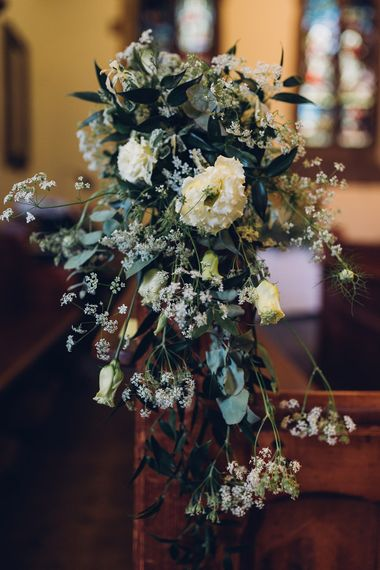 Church Pew End Wedding Flowers | Miss Gen Photography