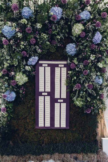 Floral Table Plan | Miss Gen Photography