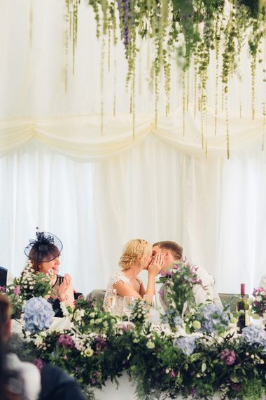 Top Table Kisses | Miss Gen Photography