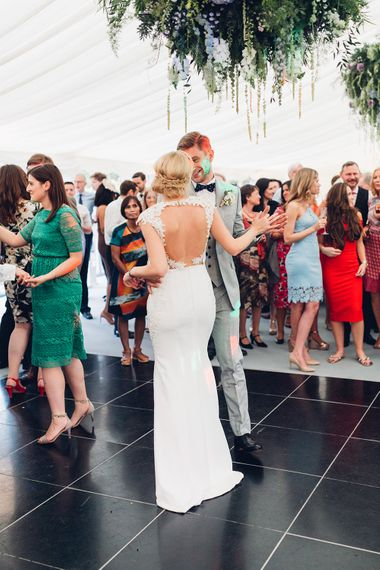 First Dance | Bride in Backless Berta Bridal Gown | Miss Gen Photography