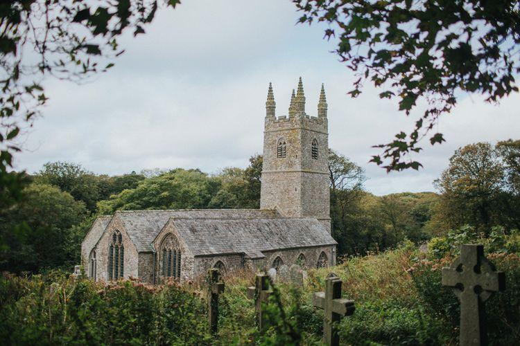 Launcells Barton Cornwall Wedding Venue With Local Church