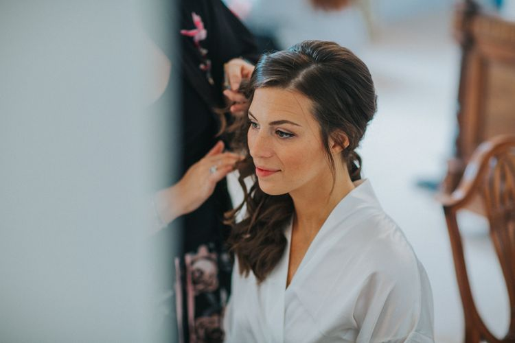 Beautiful Bride Getting Ready