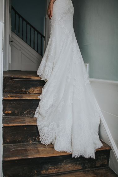 Gorgeous Lace Skirt Bridal Gown