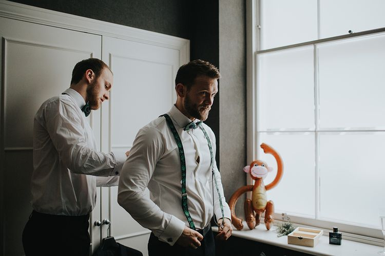 Groom In Braces For Wedding Day