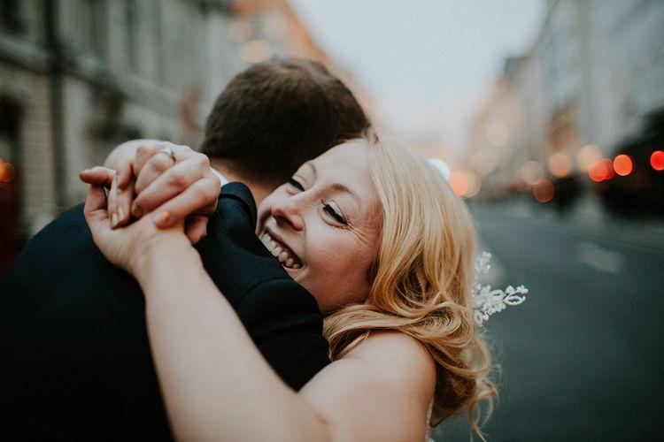 Intimate Winter Wedding At The Haymarket Hotel London With Bride In Caroline Castigliano
