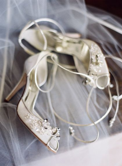 Elegant Ivory Wedding Shoes // Image By Taylor And Porter