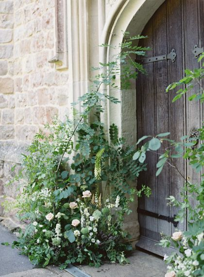 Church Wedding With Floral Arch // Image By Taylor And Porter