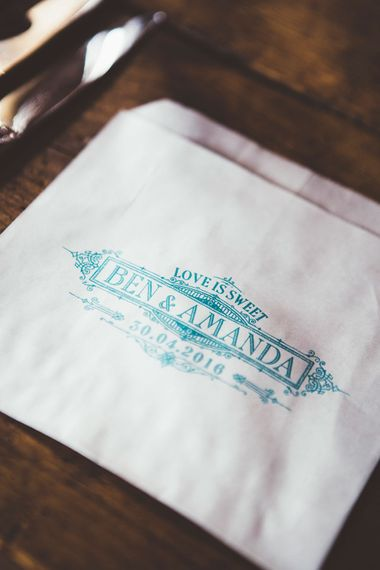 Personalised Stamped Wedding Favour Bags