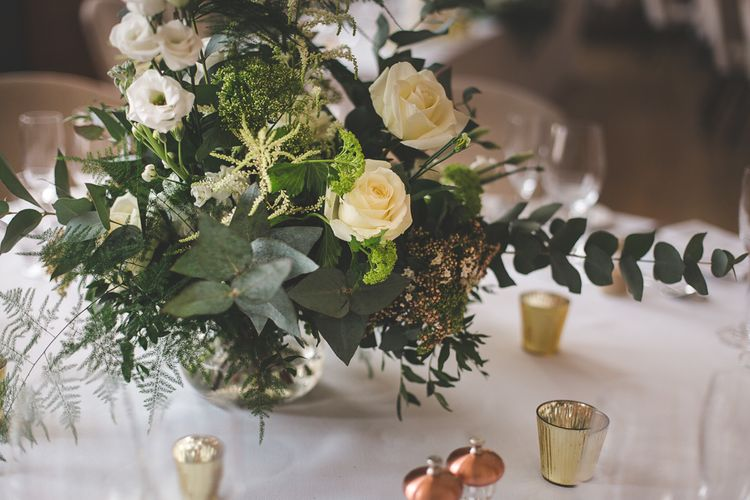 White Wedding Flowers For Tables