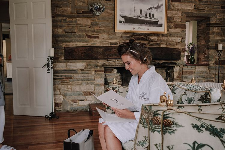 Wedding Morning Bridal Preparations | White and Silver English Country Garden At Home Marquee Wedding | Jason Mark Harris Photography