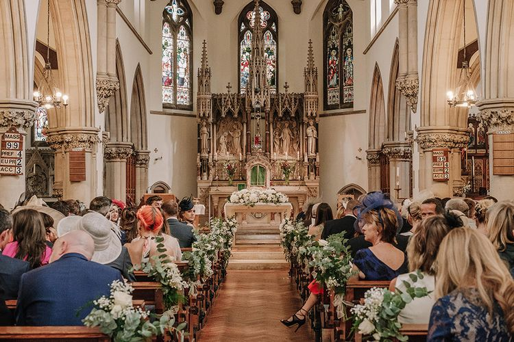 Church Wedding Ceremony | White and Silver English Country Garden At Home Marquee Wedding | Jason Mark Harris Photography