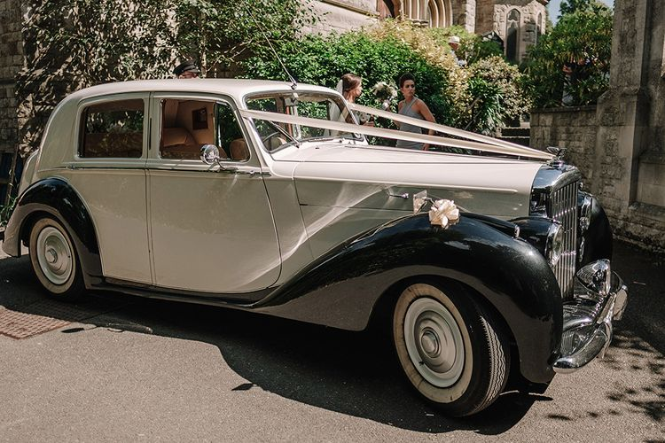 Bentley MKV Wedding Car | White and Silver English Country Garden At Home Marquee Wedding | Jason Mark Harris Photography
