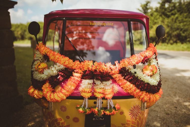 Orange Rickshaw For Wedding