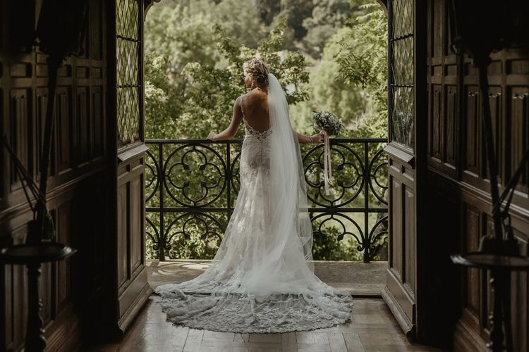 Bride in Lace Stella York Gown | Outdoor Destination Wedding at Château de Saint Martory in France Planned by Senses Events | Danelle Bohane Photography | Matthias Guerin Films