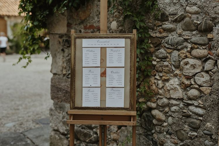 Table Plan | Outdoor Destination Wedding at Château de Saint Martory in France Planned by Senses Events | Danelle Bohane Photography | Matthias Guerin Films