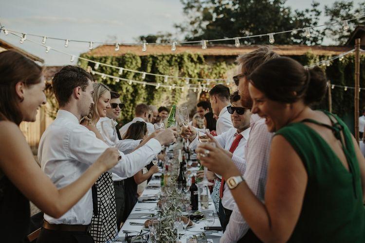 Al Fresco Reception | Outdoor Destination Wedding at Château de Saint Martory in France Planned by Senses Events | Danelle Bohane Photography | Matthias Guerin Films
