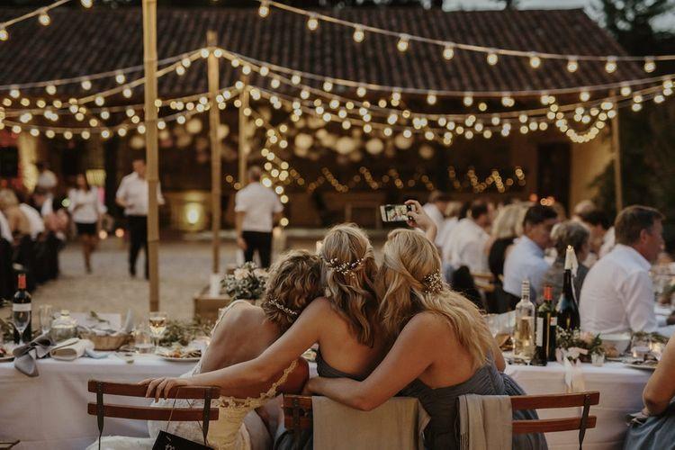 Selfie | Al Fresco Reception with Festoon Lights | Outdoor Destination Wedding at Château de Saint Martory in France Planned by Senses Events | Danelle Bohane Photography | Matthias Guerin Films