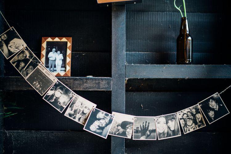 Polaroid Bunting | Bohemian Wedding at Woodfarm Barn, Suffolk | The Steed Photography