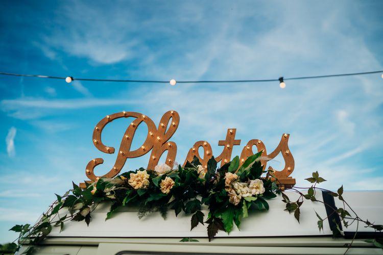 Photo Booth Sign | Bohemian Wedding at Woodfarm Barn, Suffolk | The Steed Photography