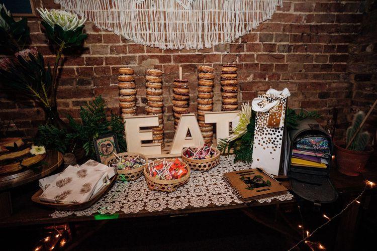 Dessert Table | Bohemian Wedding at Woodfarm Barn, Suffolk | The Steed Photography