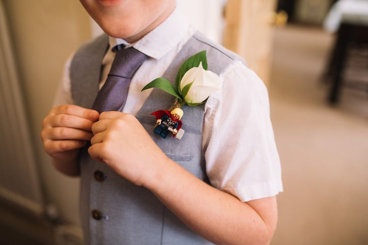 Page Boy with Flower & Lego Buttonhole