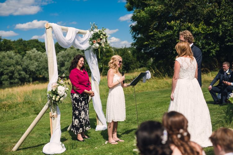 Readings at Outdoor Wedding Ceremony
