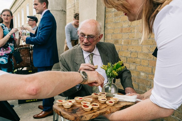 Canapés | Peach & Mint Intimate Wedding Ceremony at the Asylum & Art Deco Reception at Brockwell Lido, London | Babb Photo