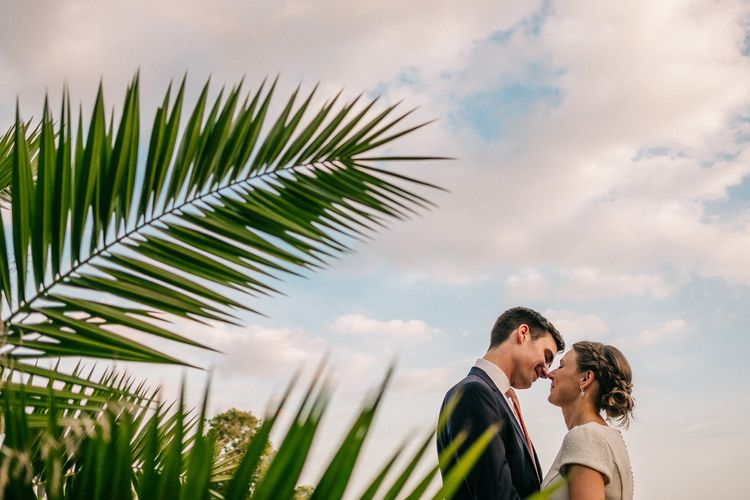Bride & Groom Portrait | Peach & Mint Intimate Wedding Ceremony at the Asylum & Art Deco Reception at Brockwell Lido, London | Babb Photo