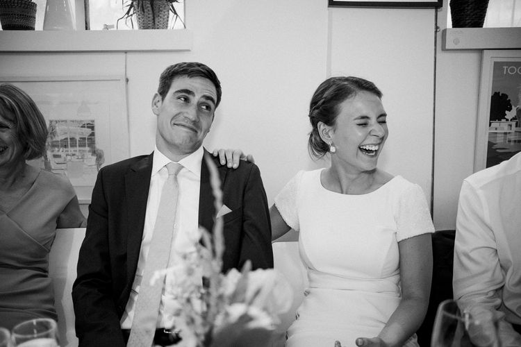Speeches | Peach & Mint Intimate Wedding Ceremony at the Asylum & Art Deco Reception at Brockwell Lido, London | Babb Photo