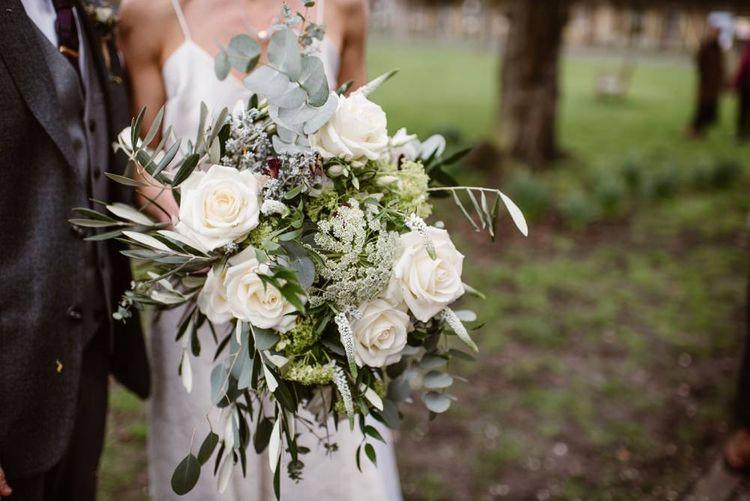 White Rose Wedding Bouquet   Image by Ellie Gillard Photography