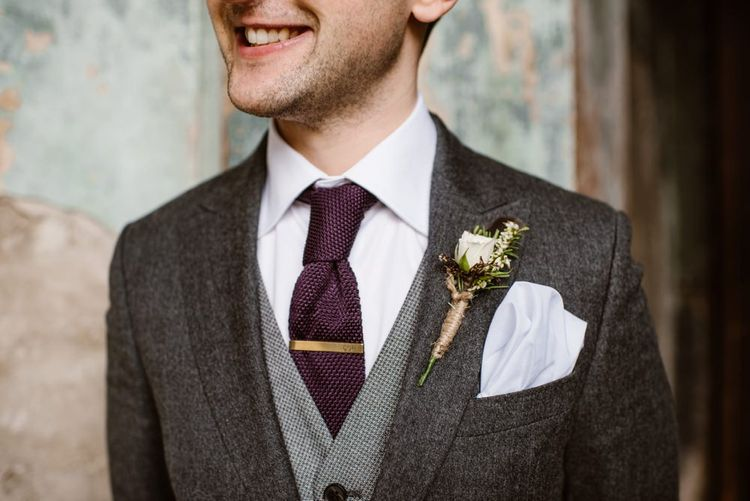 Tweed Details Suit By Ted Baker   Image by Ellie Gillard Photography