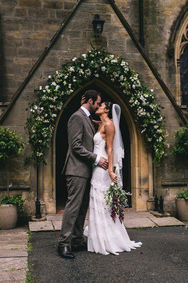 Bride & Groom Church Flower Arch
