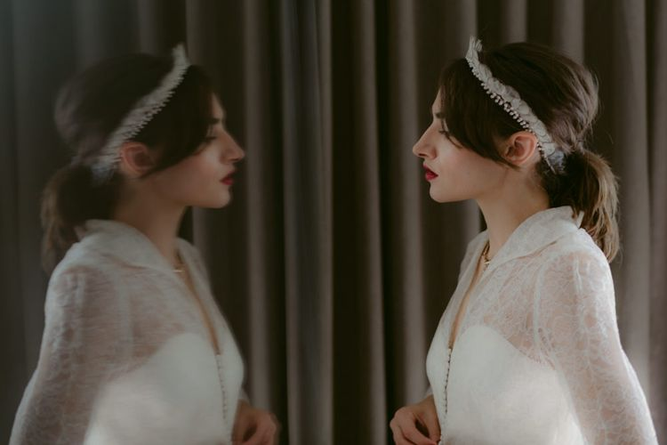 Penies Vintage Headpeice   Hoxton Hotel Wedding   Images by Millar Cole
