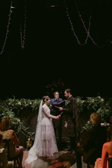 Dark Ceremony   Hoxton Hotel Wedding   Images by Millar Cole
