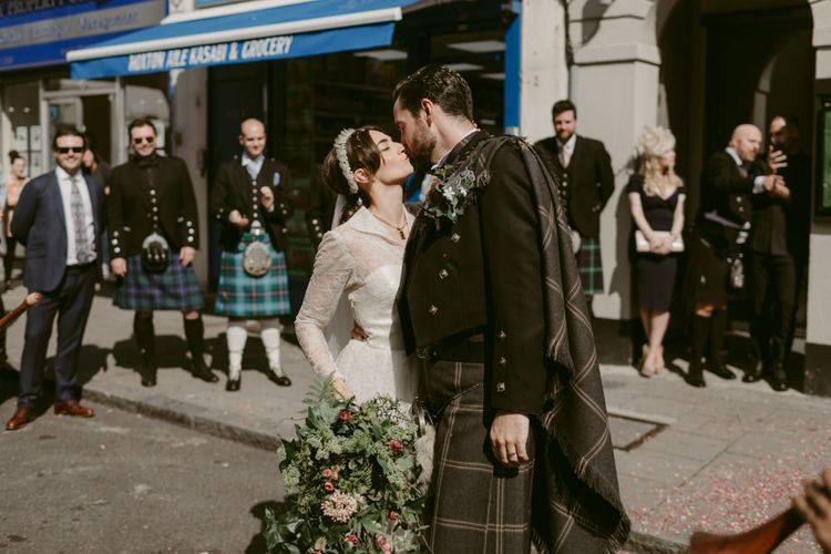 Kissing in the Street   Hoxton Hotel Wedding   Images by Millar Cole