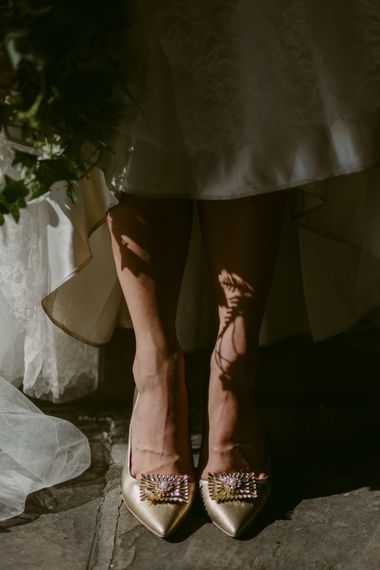 Bride's Shoes   Hoxton Hotel Wedding   Images by Millar Cole