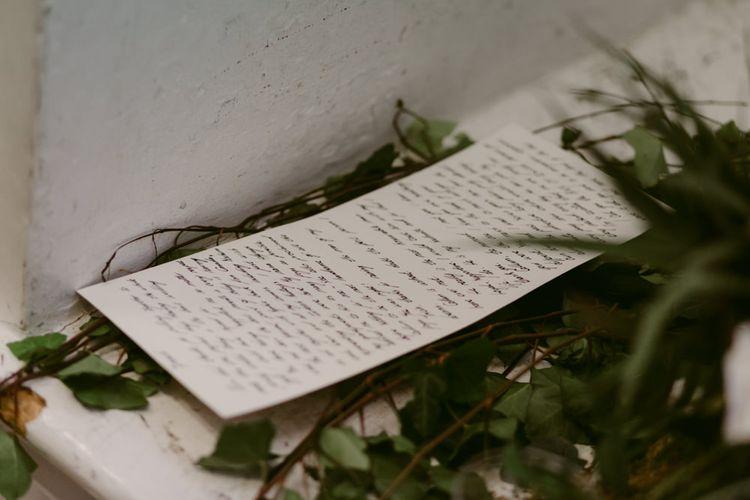 Poem by Bride   Foliage Folk Flowers   Hoxton Hotel Wedding   Images by Millar Cole