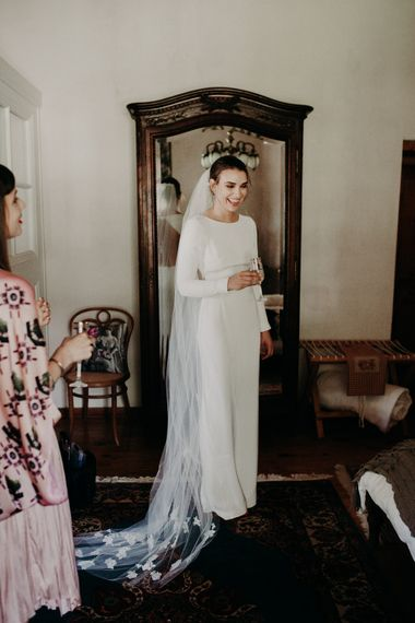 Beautiful Bride in Houghton NYC Bridal Gown | Stylish Outdoor Wedding at The Oaks Estate, Greyton, South Africa | Fiona Clair Photography | Ebert Steyn Films