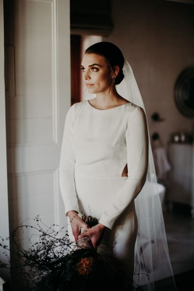 Beautiful Bride in Houghton NYC Gown | Stylish Outdoor Wedding at The Oaks Estate, Greyton, South Africa | Fiona Clair Photography | Ebert Steyn Films