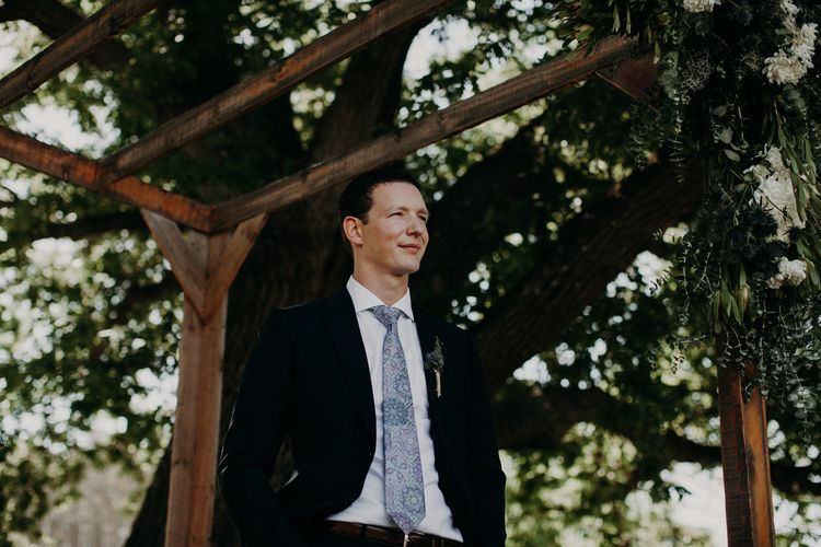 Groom in Armani Suit | Stylish Outdoor Wedding at The Oaks Estate, Greyton, South Africa | Fiona Clair Photography | Ebert Steyn Films