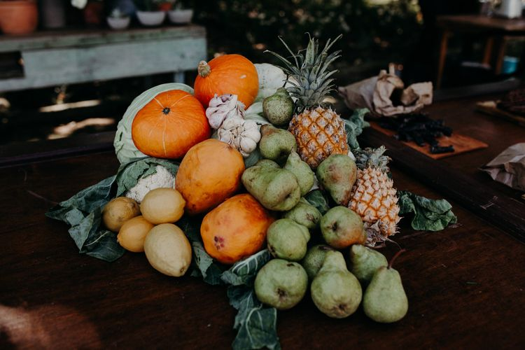 Fruit Platter Wedding Decor | Stylish Outdoor Wedding at The Oaks Estate, Greyton, South Africa | Fiona Clair Photography | Ebert Steyn Films