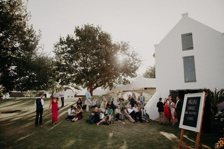 Wedding Guests | Stylish Outdoor Wedding at The Oaks Estate, Greyton, South Africa | Fiona Clair Photography | Ebert Steyn Films