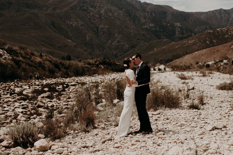 Bride in Houghton NYC Bridal Gown | Groom in Armani Suit | Stylish Outdoor Wedding at The Oaks Estate, Greyton, South Africa | Fiona Clair Photography | Ebert Steyn Films