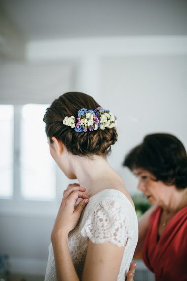Chic Chignon & Floral Hairpiece