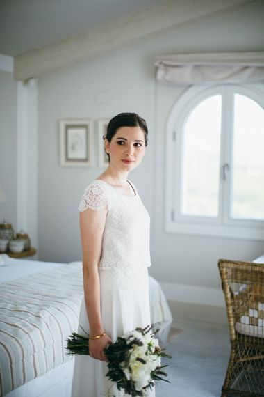 Bride in Verónica Miranda Bridal Separates