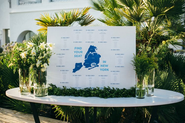 New York Map Table Plan